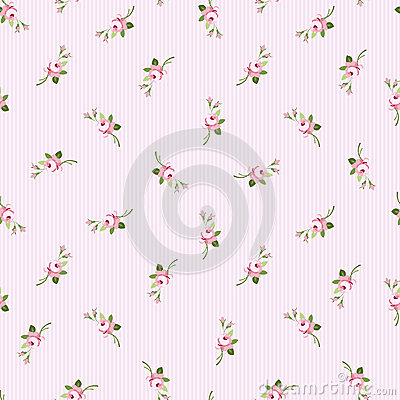 Free Seamless Floral Pattern With Little Flowers Pink Roses Stock Photos - 66702093