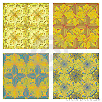 Seamless Floral Patterns Stock Image - Image: 15475131
