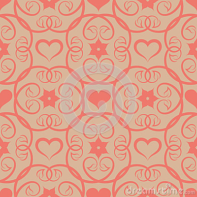 Seamless floral pink patter