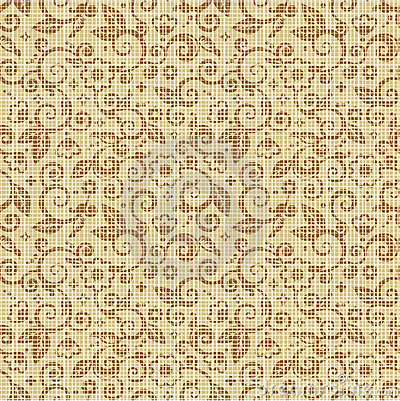 Seamless floral print canvas background