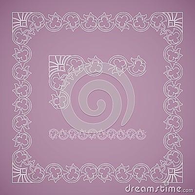 Seamless floral tiling frame