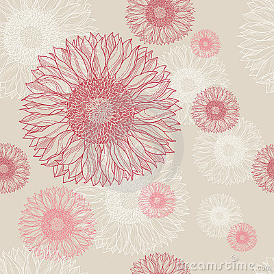 Free Seamless Floral Vintage Background  Royalty Free Stock Image - 20187816