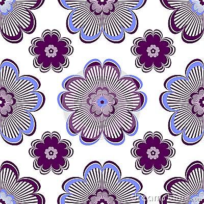 Seamless floral vivid violet pattern
