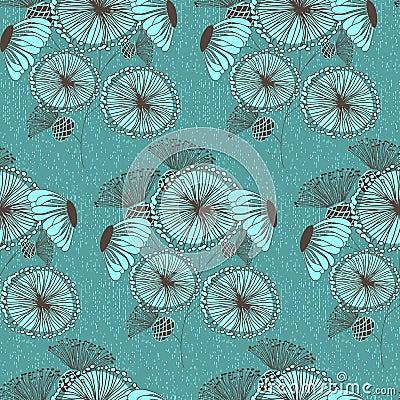 Free Seamless Floral Wallpaper Pattern Stock Photos - 4971913