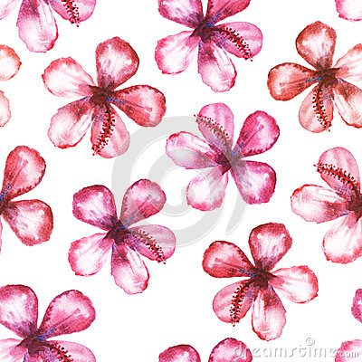 Seamless floral watercolor ornament