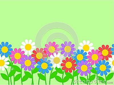 Seamless flower border