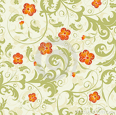 Free Seamless Flower Damask Pattern Stock Images - 13842804
