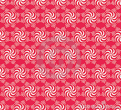 Seamless flower and gear pattern
