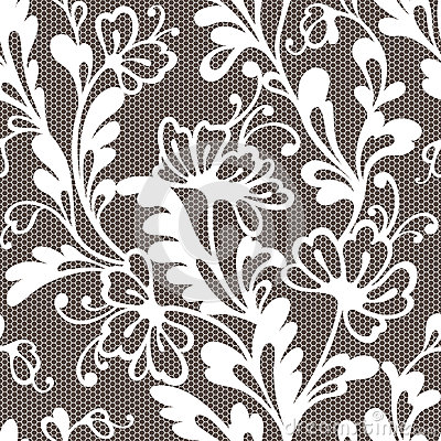 Free Seamless Flower Lace Pattern Royalty Free Stock Images - 36817919