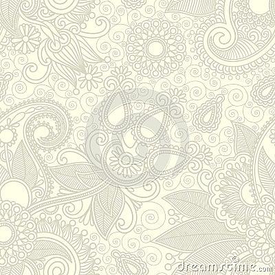 Seamless flower paisley design
