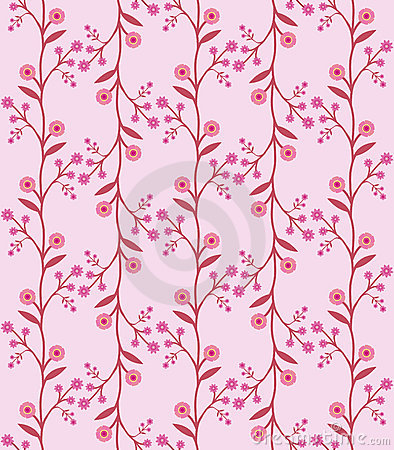 Seamless flower pattern in retro sixties style