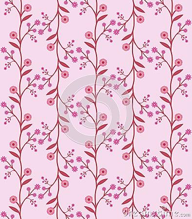 Seamless flower pattern in retro sixties style