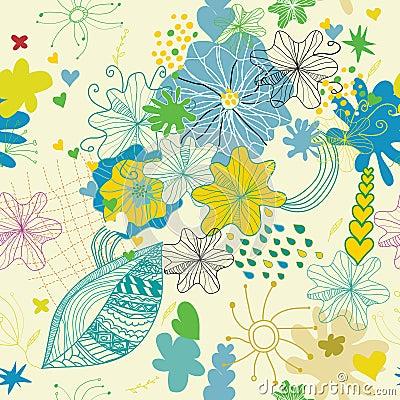 Seamless flower spring lovely pattern1