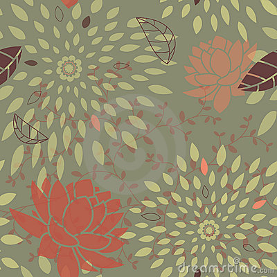 Seamless Flower and Star Bursts Pattern