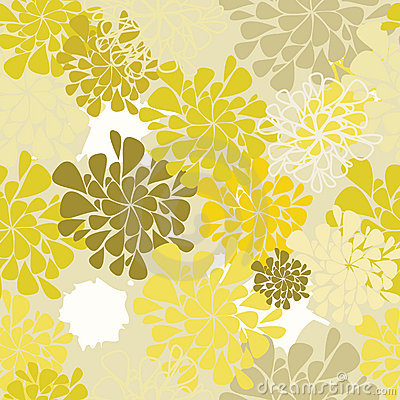 Seamless flower yellow background
