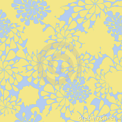 Seamless flower yellow and blue background