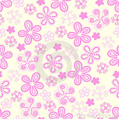 Seamless flowers pastel.