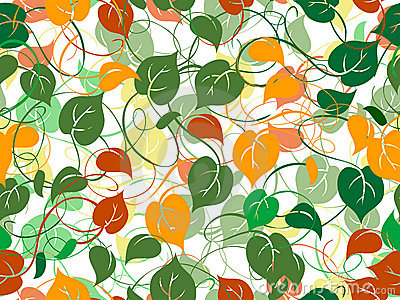 Seamless foliage pattern