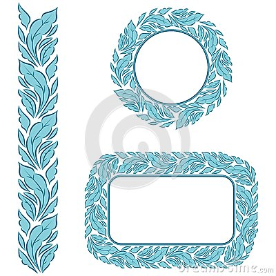 Seamless frame with leaves