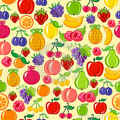 Free Seamless Fruit Background Royalty Free Stock Photography - 13643937