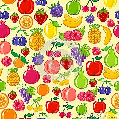 Seamless fruit background