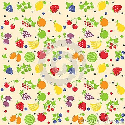 Seamless fruit texture