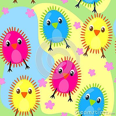 Seamless furry chicks