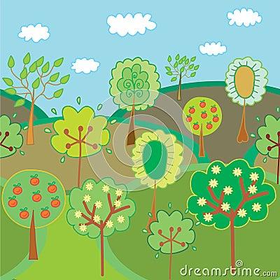 Seamless garden border