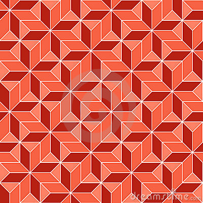 Seamless geometric 3d abstract pattern