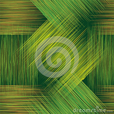 Free Seamless Geometric Checkered Pattern With Grunge Stripes In Green, Yellow And Brown Colors Royalty Free Stock Photography - 61698817