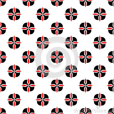 Free Seamless Geometric Floral Flower Pattern Vector Background Abstract Design Art Black And Red Royalty Free Stock Photography - 104790417
