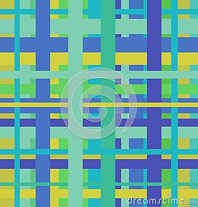 Seamless geometric linear pattern. Endless blue an