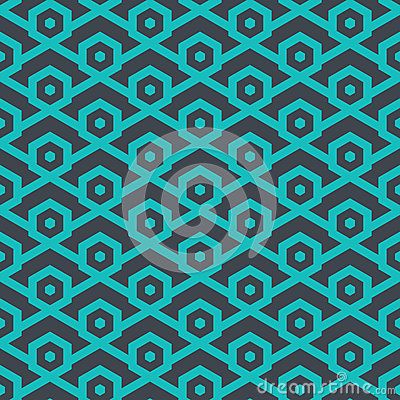 Free Seamless Geometric Pattern From Lines And Hexagons - Vector Eps8 Stock Photos - 85434153
