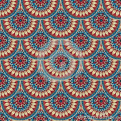 Free Seamless Geometric Pattern In Fish Scale Design. Stock Image - 35818331