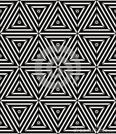 Seamless Geometric Pattern Simple Vector Black And White