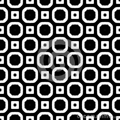 SEAMLESS BLACK AND WHITE GEOMETRIC PATTERN Vector Illustration