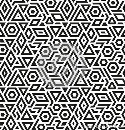 Free Seamless Geometric Vector Pattern Background Stock Image - 35694631