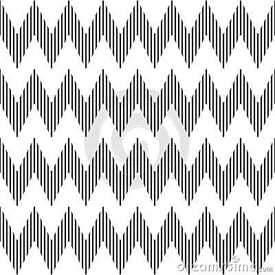 Seamless geometric zigzag pattern.