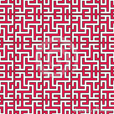 Seamless geometrical islamic texture with swastika