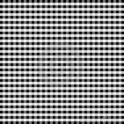 Seamless Gingham, Black and White
