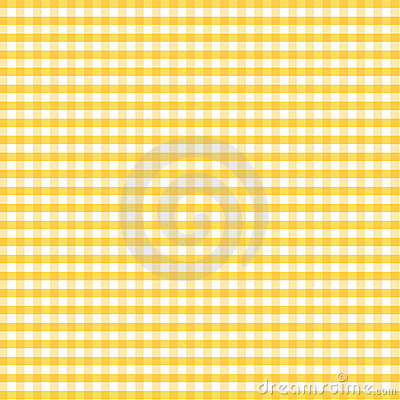 Seamless Gingham, Golden Yellow