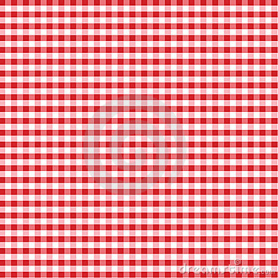 Seamless Gingham, Red