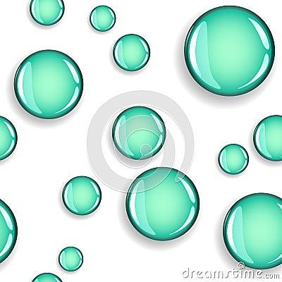 Seamless glansiga cirklar med skuggamodellen