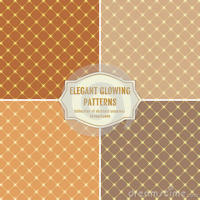 Seamless glowing patterns vector elegant backgrounds for Elegant neutral paint colors