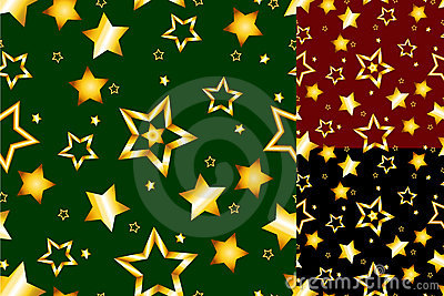 Seamless gold star pattern