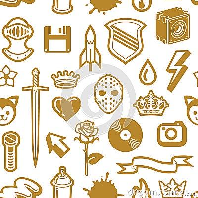 Free Seamless Golden Pattern Royalty Free Stock Image - 3256366