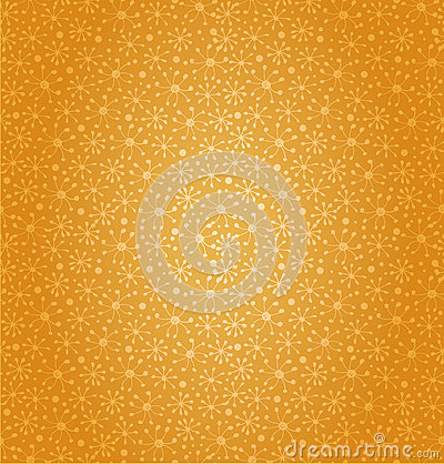 Seamless golden pattern. Cartoon cute design. Flor