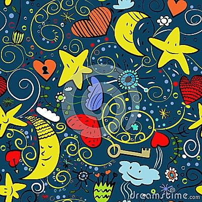 Seamless goodnight pattern