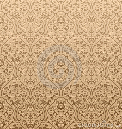 Seamless Gothic Damask Wallpaper. Seamless Gothic Damask Wallpaper Royalty Free Stock Photos   Image