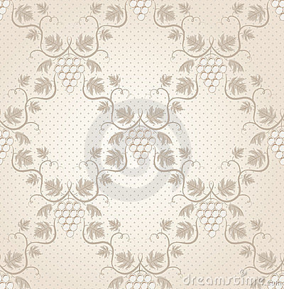 Seamless grape pattern